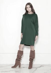 sukienki. Oversize'owa sukienka w typie bluzy, SUK191