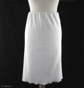 Biała spódnica dzianinowa spódnice barska spódnica, spódniczka