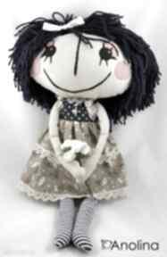 Anolinka ręcznie szyta lalka duszą lala prezent sukienka