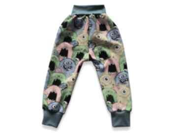 BamBi! POTWORKI kolorowe całoroczne spodnie z dresówki, spodnie