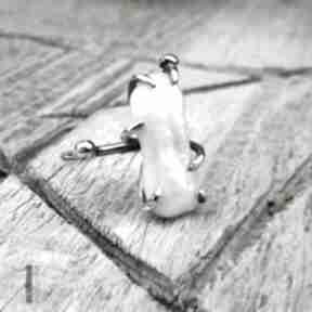 Wild pearl bpearl srebrny pierścionek perłą słodkowodną perła
