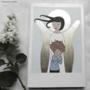 Anioł stróż pmiątka dla chłopca dziecka pracownia na deskach