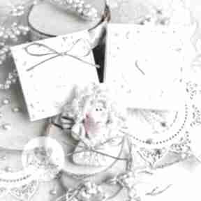 mrufru Anioł z intencją. Kartka oraz pudełeczko. Personalizowana