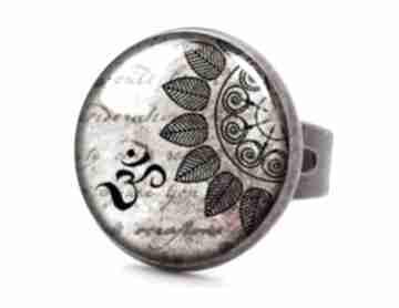 Mandala pierścionek regulowany zen prezent orientalna ręcznie
