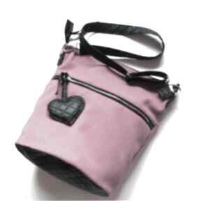Pink hobo torebka na ramię sabi tatka hobo, worek, pikówka