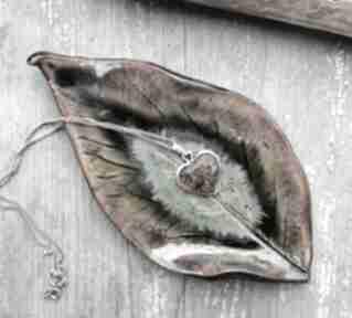 ceramika: liść talerz podstawka listek talerzyk