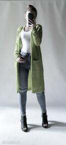 Kardigan długi płaszczyk z kieszeniami swetry feltrisimi