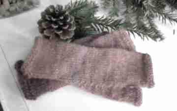 Mitenki ombre czerwień rękawiczki jaga11 druty, ombre, wełna