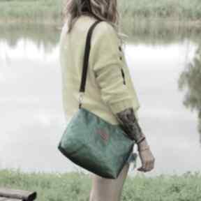 Adel zielona torebka mała nerka listonoszka w gwiazdy na ramię