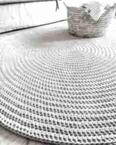 Okrągły dywan o średnicy 120 cm pule ze sznurka, design, dywany