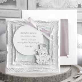 Wyjątkowa pamiątka chrztu świętego warstwowa kartka w ozdobnym