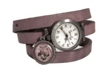 Gryffindor zegarek bransoletka skórzanym pasku harry potter