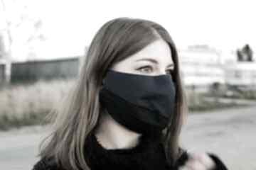 Designerska ochronna maska z bawełny dwukolorowa maseczki non