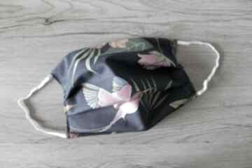 Maseczka bawełniana - kolorowe kolibry maseczki torebki
