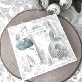 Lazurowe życzenia scrapbooking kartki martitaland kartka