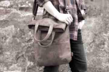 3w1 plecako - torba koniak vegan manufakturamms plecak, torba