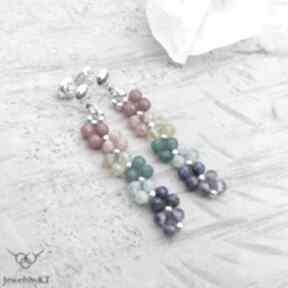 Kolory splecione - kolczyki jewelsbykt srebrne kolczyki, tęczowe