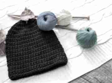 Czapka handmade czapki hermina hand made, wełniana czapka