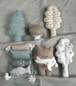 Zestaw leśne zwierzątka-niedźwiedź zabawki madika design zabawek