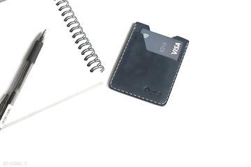 Minimalistyczny portfel skórzany ręcznie szyty portfele