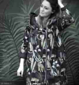 Oversize wodoodporny płaszcz w gepardy m płaszcze agagu damski