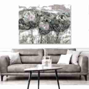 Obraz polne kwiaty 120 x 80, krajobraz do salonu, dekoracja