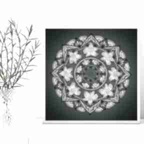 Mandala 50x50mcm malgorzata domanska grafika, plakat, mandala