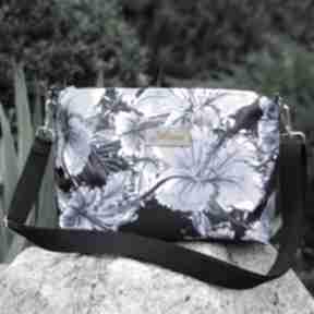 Adel wodoodporna torebka kwiaty niebieskie listonoszka na ramię