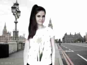 Komfortowa koszulka damska ręcznie malowana koszulki freefroo