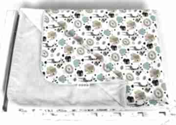 Kocyk minky 100x75 zwierzaki zoo personalizacja pokoik dziecka