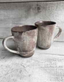 Zestaw dwóch wyjątkowych kubeczków kubki kmdeka ceramiczne kubki