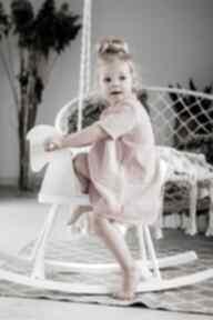 Sukienka muślinowe groszki bejbistory letnia, muślin
