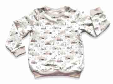 Koparki wywrotki, całoroczna bluza dziecięca z dresówki