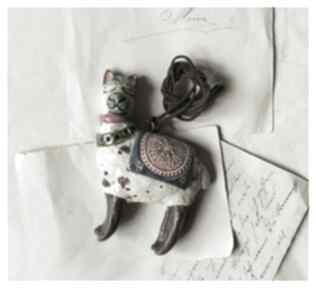 Wisior lama wisiorki wylegarnia pomyslow ceramika, wisior, lama,