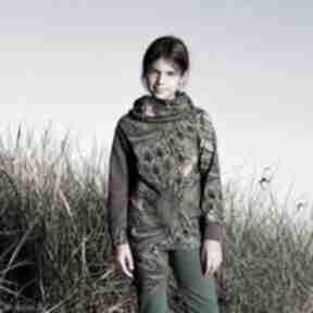 Bluza dla dziewczynki 122 -134 cm - pawie pióra mimi monster
