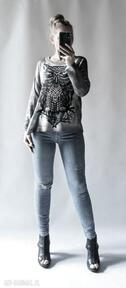 Sweter damski oversize swetry feltrisimi elegancki, drukowany