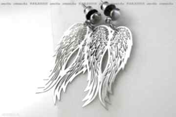 Srebro, kolczyki - srebrne anioły, seria paradise anetta