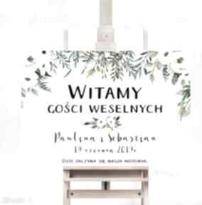Obraz powitalny - romantyczne kwiaty 50x70 cm na wesele ślub