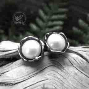 Radecka Artkolczyki sztyfty srebro perła romantyczne boho
