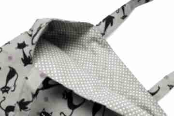 Torba bawełniana - koty i kropeczki beżowe torebki niezwykle