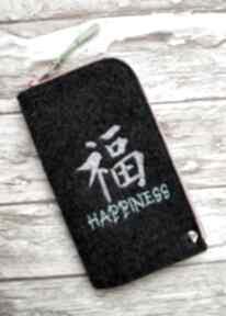 Filcowe etui na telefon - happiness happyart smartfon, prezent