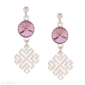Kolczyki z różowego złota kryształami swarovski® crystal sotho