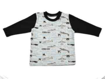 Samoloty bluzka dla chłopca, bawełniana, rozmiary 68 -122 bambi