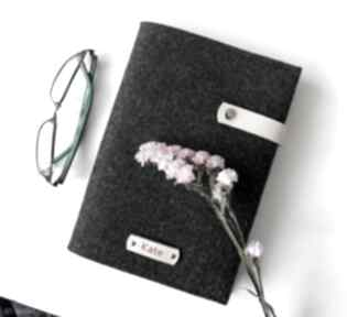 Notes w filcowej okładce - personalizowany z imieniem beż notesy