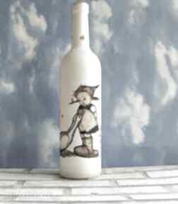 """Szklana butelka"""" dziewczynka z gąskami"""" dekoracje magisches"""