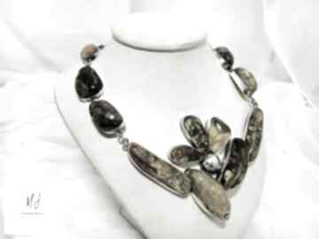 Naszyjnik kolia ze srebra próba 925 z bursztynem bałtyckim
