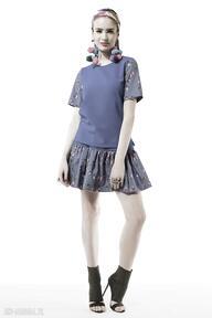 Chabrowy komplet w motylki sukienki kasia miciak design spódnica