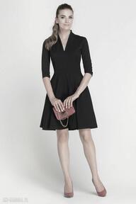 Sukienka rozkloszowana, suk147 czarny sukienki lanti urban