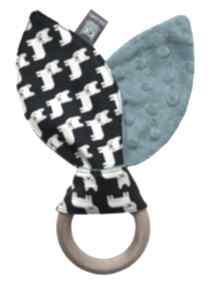Gryzak wooden ring, motyw buldożki zabawki little sophie gryzak