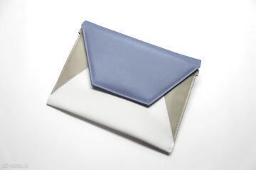 Kopertówka - chaber, beż i biały torebki niezwykle elegancka